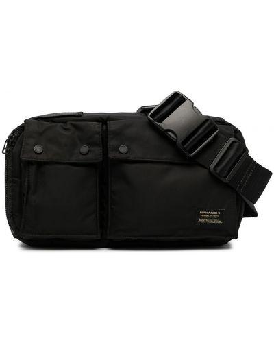 Черная нейлоновая сумка Maharishi