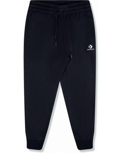 Повседневные черные брюки с вышивкой Converse