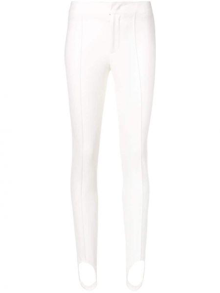 Białe legginsy z wiskozy Moncler Grenoble