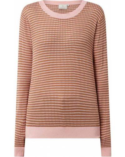 Prążkowany różowy sweter z wiskozy Kaffe