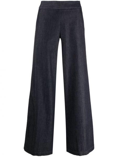 Свободные хлопковые синие брюки Pt01