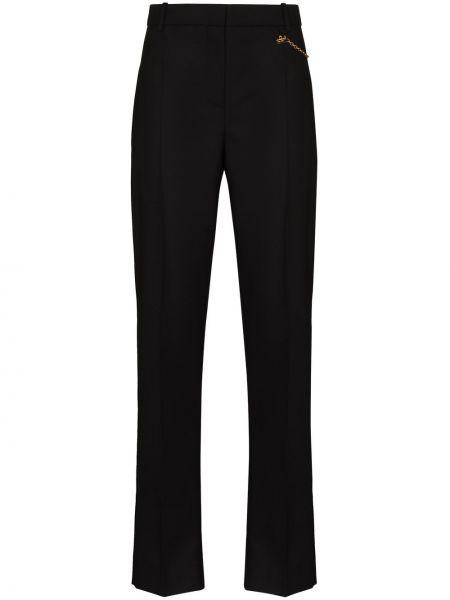 Bawełna spodni czarny spodnie papierosowe z kieszeniami Givenchy