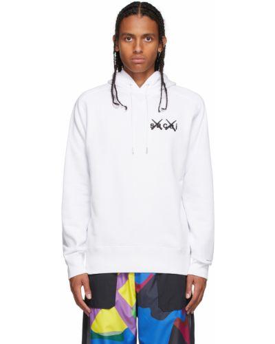Biała bluza z długimi rękawami Sacai