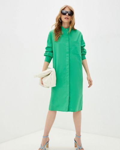 Зеленое платье-рубашка Imperial