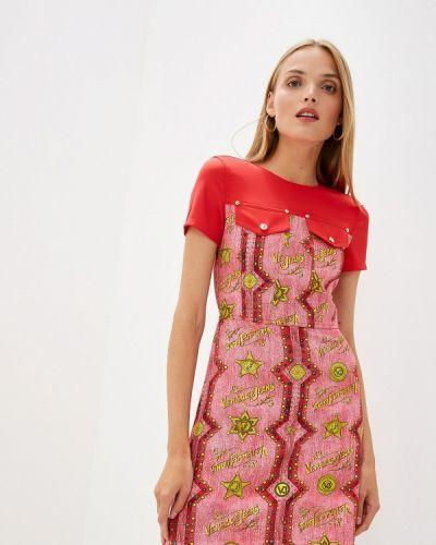 Розовое джинсовое платье Versace Jeans
