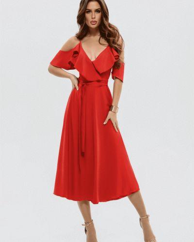 Красное платье с запахом Magnet