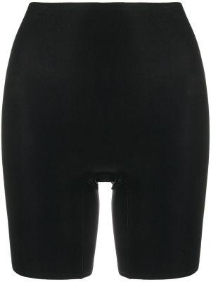 Хлопковые однобортные черные шорты Chantelle