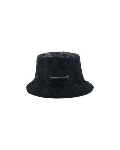Хлопковая черная панама Emporio Armani