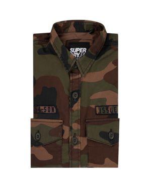 Koszula wojskowy z łatami Superdry