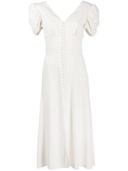 Платье с V-образным вырезом из вискозы Saloni