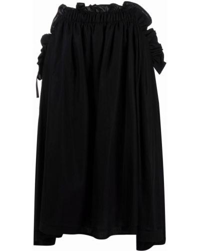 Хлопковая черная юбка с оборками Comme Des Garçons Noir Kei Ninomiya