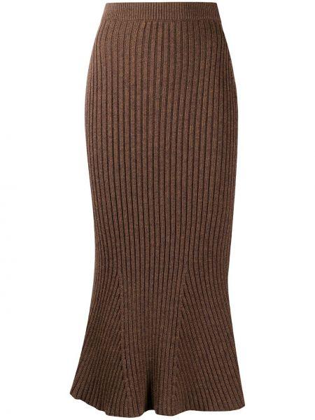 Spódnica rozkloszowana - brązowa Christopher Kane