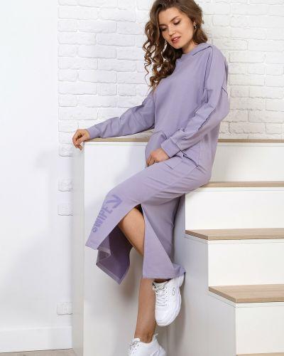 Платье макси с длинными рукавами виотекс
