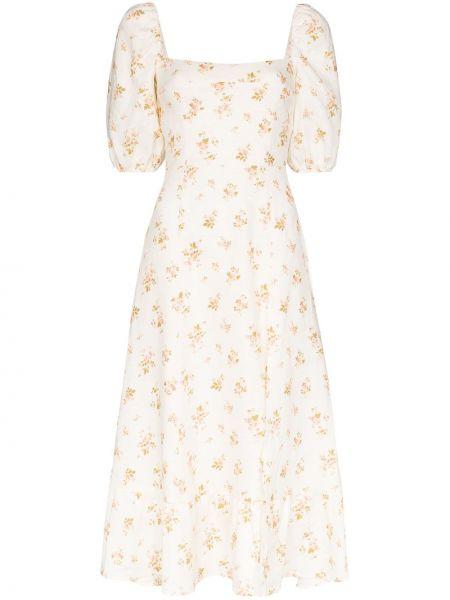 Платье миди с цветочным принтом льняное Reformation