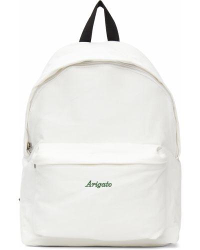 Czarny plecak na laptopa srebrny z haftem Axel Arigato