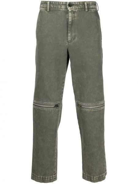 Z wysokim stanem bawełna czarny jeansy do kostek z kieszeniami Black Comme Des Garçons