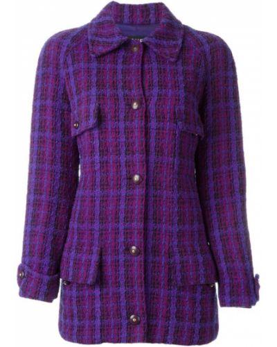 Классический пиджак твидовый шерстяной Chanel Vintage