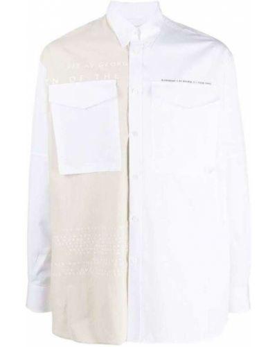 Biała koszula bawełniana z długimi rękawami Givenchy
