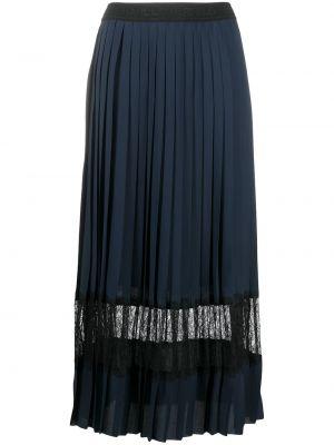 С завышенной талией синяя плиссированная юбка миди Karl Lagerfeld