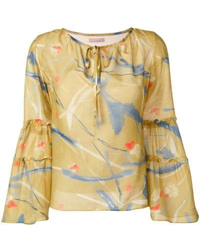Блузка с длинным рукавом с завязками свободного кроя Kristina Ti