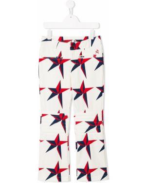 Białe spodnie z paskiem z nylonu Perfect Moment Kids