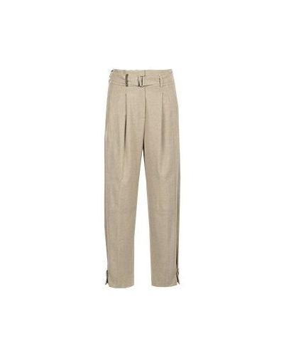 Бежевые укороченные брюки Peserico