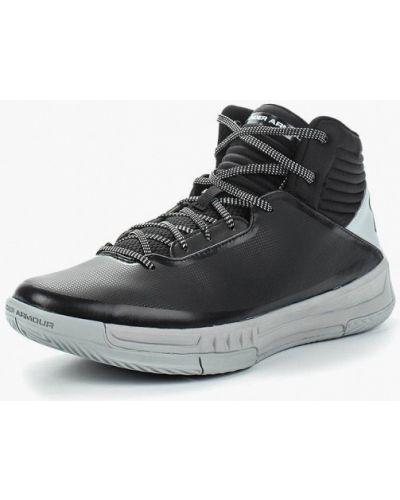 Черные высокие кроссовки Under Armour