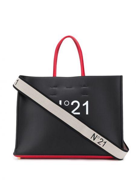 Dom włókienniczy biały torba na zakupy z kieszeniami N°21