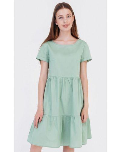 Прямое бирюзовое платье Bessa