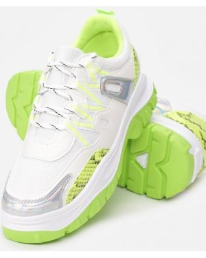 Zielone sneakersy materiałowe Multu