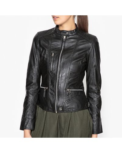 Черная укороченная куртка Oakwood