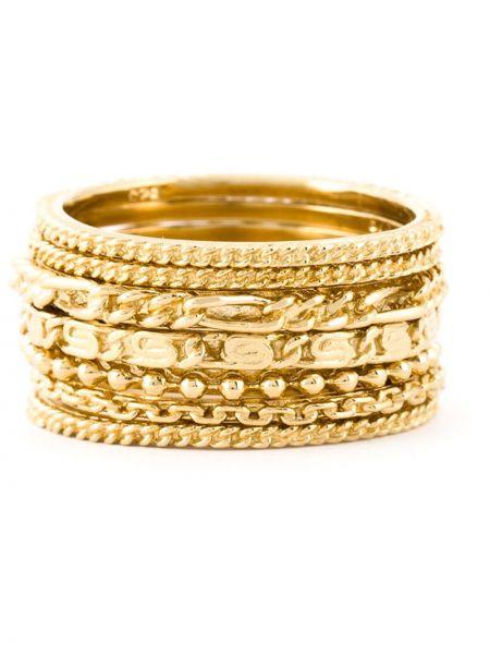 Золотистое кольцо золотое Wouters & Hendrix