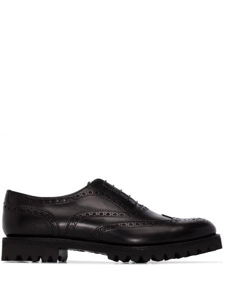 Czarny buty brogsy z prawdziwej skóry Churchs