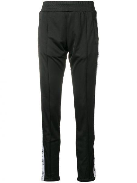 Черные брюки с поясом узкого кроя Chiara Ferragni