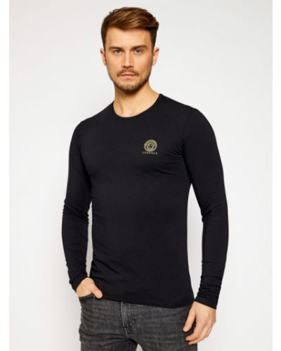 Czarny koszulka z długim rękawem Versace