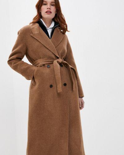 Коричневое пальто Sandro