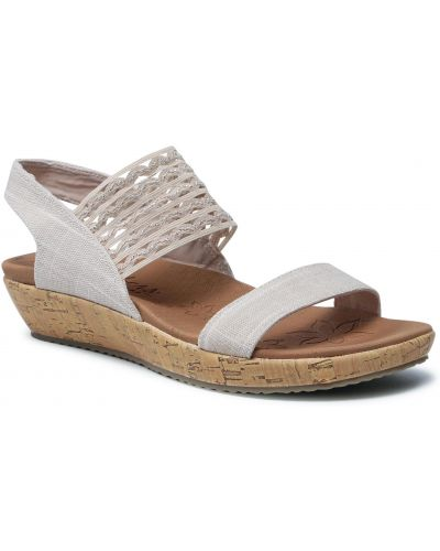 Sandały - beżowe Skechers