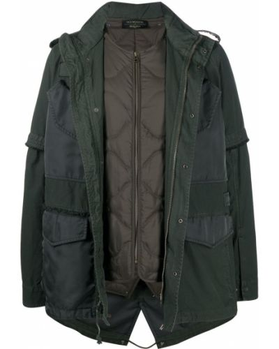 Zielona długa kurtka pikowana z frędzlami Mr And Mrs Italy