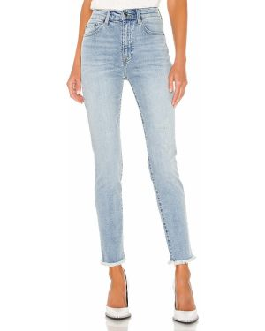Niebieskie jeansy bawełniane z cekinami Pistola