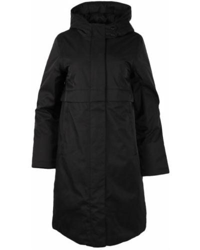 Czarny płaszcz z kapturem bawełniany Elvine