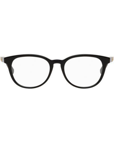 Бархатные черные очки для зрения круглые Gucci