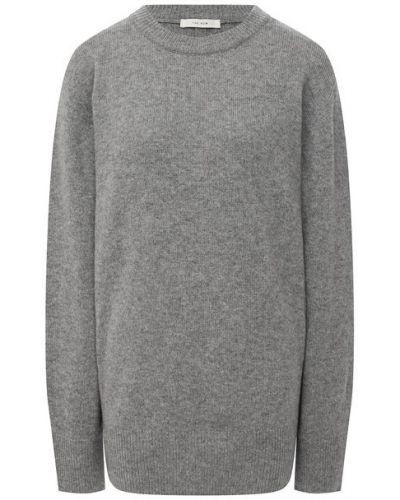 Серый шерстяной свитер The Row