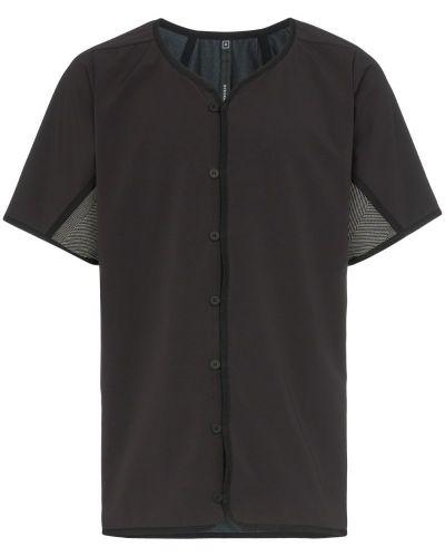 Черная рубашка с короткими рукавами на пуговицах Byborre