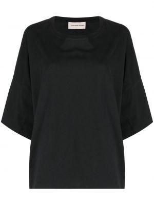 Прямая хлопковая черная футболка Alexandre Vauthier