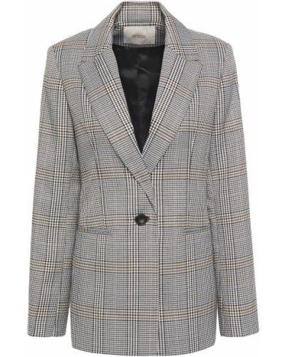 Серый пиджак с подкладкой на пуговицах Maje