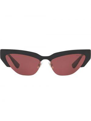 Черные нейлоновые солнцезащитные очки Miu Miu Eyewear