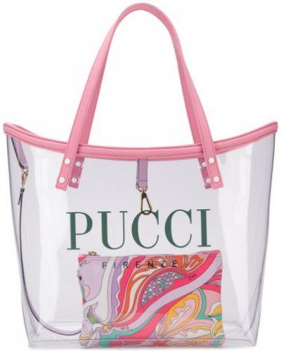 Сумка-тоут прозрачная с логотипом Emilio Pucci