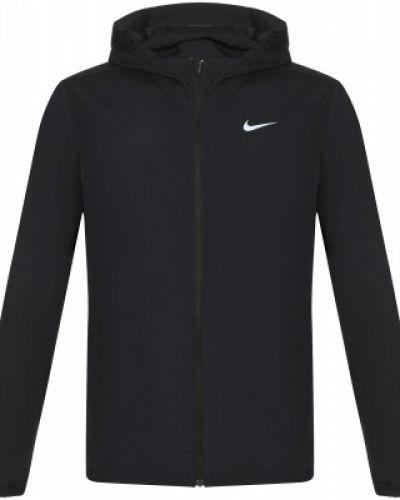 Черная куртка с нашивками на молнии Nike
