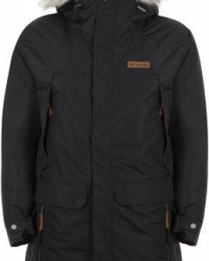 Куртка с капюшоном черная спортивная Columbia