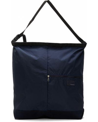 Czarna torba na ramię zamszowa na rzepy Nanamica